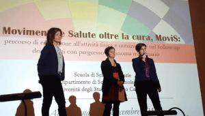 La dottoressa Rita Emili (a destra) e la professoressa Elena Barbieri. Al centro il vicesindaco di Acqualagna Antonella Marchetti